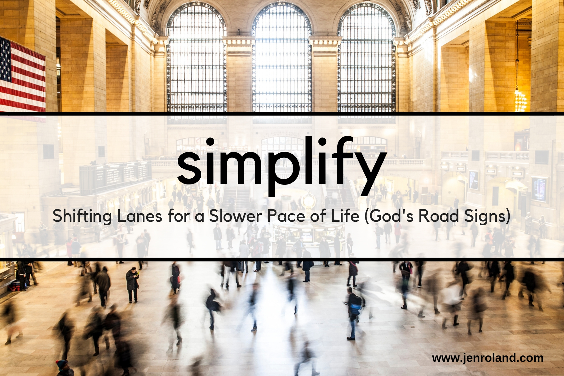 Shifting Lanes for a Slower Pace of Life - God's Road Signs -